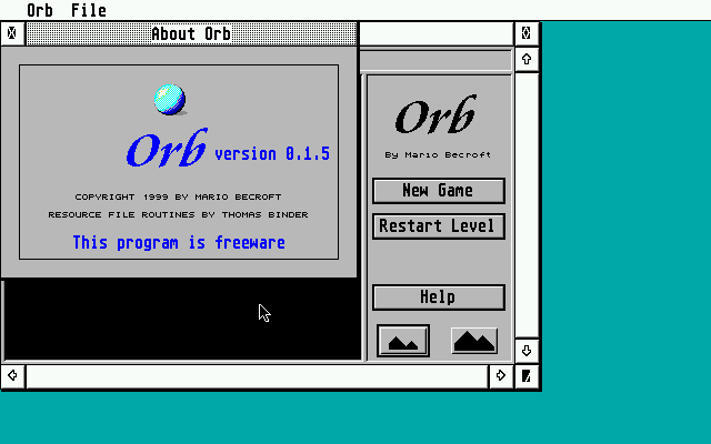 Orb atari screenshot